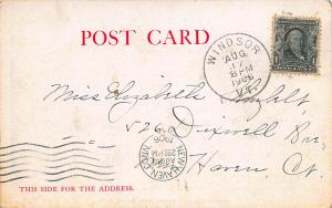 Winston Churchill's Summer Home, Cornish, N.H., early postcard, Used in 1906