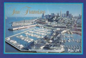 California San Francisco Aerial View Pier 39