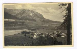 Walchsee mit dem Kaiser (Tirol), Austria, pU-1936