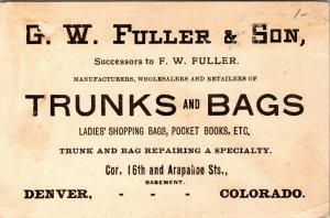 Victorian Trade Card - GW Fuller - DENVER COLORADO