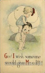 Rose O'Neill, pop out Kewpies pop out Mermaid writing on back clean card, cre...