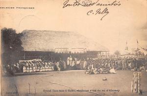 Dahomey Benin Grand Tam-tam a Goho, residence d'ete du roi d'Abomey