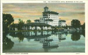 The Broadmoor Hotel Mirrored in the lake, Colorado Spring...