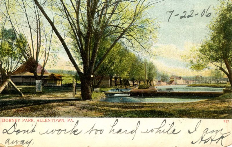 PA - Allentown. Dorney Park, 1906. General View