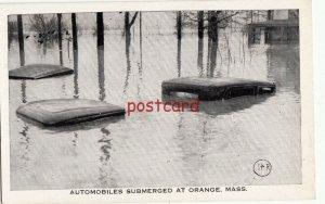 ORANGE MA Automobiles Submerged, publ Tichnor Bros,  c1938