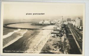 LONG BEACH, CA. RAINBOW PIER AND OCEAN BLVD REAL PHOTO POSTCARD