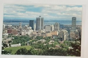 Vintage Postcard:View from Mount Royal Lookout - Montreal, CANADA. Aerialskyline