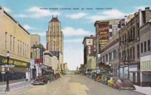Texas El Paso Texas Street Looking East