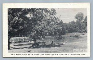 LEBANON NJ SWIMMING AREA BAPTIST CONFERENCE CENTER VINTAGE POSTCARD