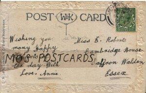Genealogy Postcard - Roberts - Cambridge House, Saffron Walden, Essex  Ref 7229A