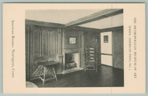 NYC Metropolitan Museum Of Art American Room Interior~Newington CT~Postcard
