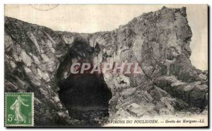 Old Postcard From Around Pouliguen Cave Korigans