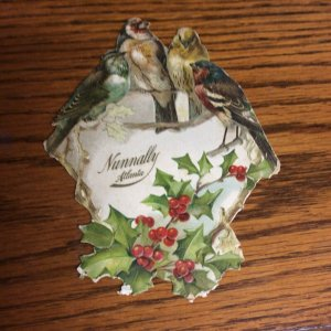 Victorian Trade Card Nunnally Fine Candies Atlanta SV1.
