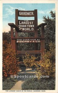 Largest Chair in the World - Gardner, Massachusetts MA