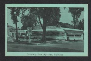 VERMONT VT RUTLAND Lindholm's DINER Restaurant Postcard
