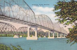 Missouri River Bridge , PIERRE , South Dakota , 30-40s