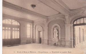 Belgium Erquelinnes Ecole d'Arts et Metiers Vestibule et couloir Sud 1922
