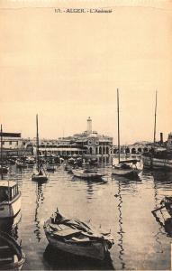 Algeria L'Amiraute Harbour Boats Port Postcard