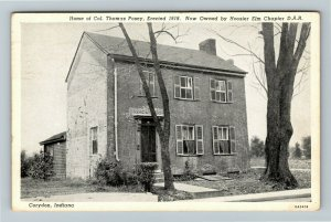 Corydon IN Indiana, Home of Colonel Thomas Posey, Chrome c1954 Postcard