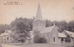 Saint James Church Lake Delware Delhi New York Albertype