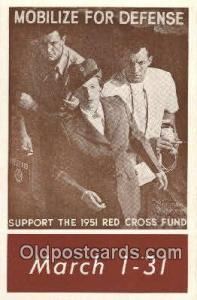 1951 Fund Campaine Red Cross Postcard Postcards  1951 Fund Campaine