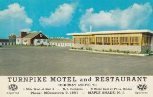 MAPLE SHADE , New Jersey , 1950-60s ; Turnpike Motel & Restaurant