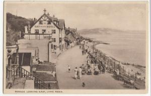 Dorset; Parade Looking East, Lyme Regis PPC Unused, c 1920's, Bay Private Hotel