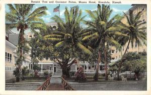 Honolulu Hawaii Moana Hotel Banyan Tree Antique Postcard K105585
