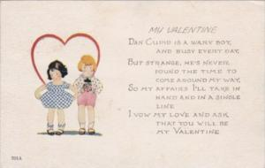 Valentine's Day Young Children With Heart 1923