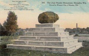 MENASHA , Wisconsin, 1914 ; Jean Nicolet Monument