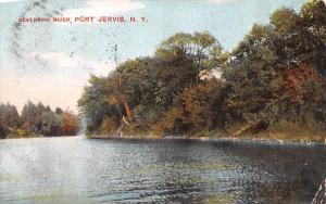 Neversink River Port Jervis, New York Postcard