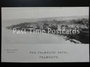 Cornwall THE FALMOUTH HOTEL Old Promotional Postcard - Manager C. DUPLESSY