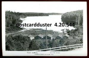 544 - CHEMIN MONT LAURIER Quebec 1940s Camp Dorval. Real Photo Postcard
