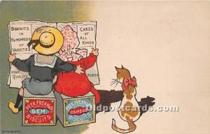 Advertising Postcard - Old Vintage Antique Gem Peek Frean & Co London Biscuits
