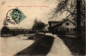 CPA  Chalons-sur-Marne - Chemin du Barrage    (743080)