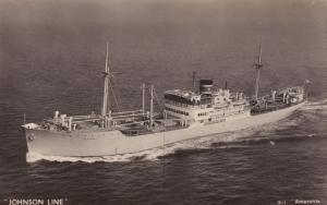 MS Amazonas Johnson Line Ferry Ship Real Photo Old Postcard