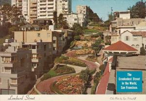 California San Francisco Lombard Street The Crookedest Street In The World