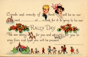 Rally Day Announcement
