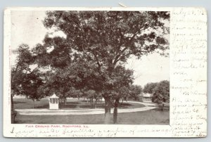 Rockford Illinois~Fair Ground Park~Oval Track Around Gazebos~1906 B&W Postcard