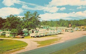 Tallahassee Florida aerial view Bell's Trailer Park vintage pc BB2663
