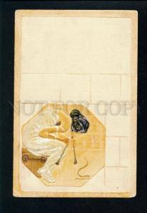 3075287 SNAKE Charmer RAPHAEL KIRCHNER enamel paint ART NOUVEAU