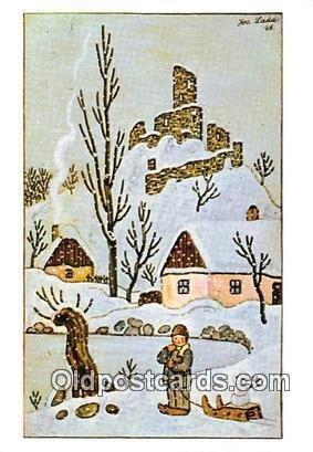 Artist Josef Lada Greetings Unused