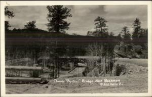 Double Pig Tail Bridge Near Rushmore SD Real Photo Postcard