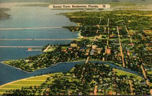 Florida Bradenton Aerial View 1939
