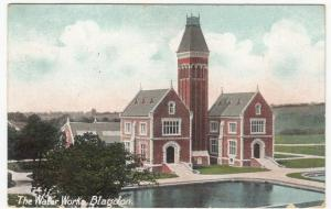 Somerset; The Water Works, Blagdon PPC, 1909 PMK, To Miss Delve, Durham