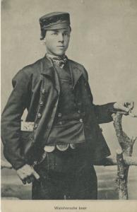 Walchersche Boer Young Man Unused Postcard E4