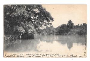 France Lyon Le Parc de la Tete d'Or Lake View Vintage LL 1908 Leon Levy Postcard