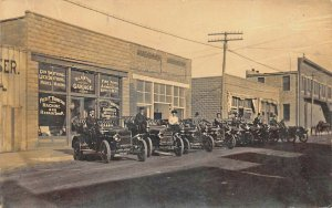 Lawton OK Lawton Auto Garage Dealership Guns Bicycles etc. Real Photo Postcard