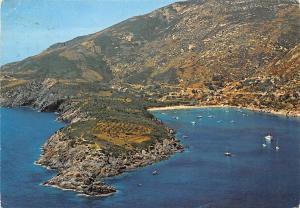 Italy Isola d'Elba Marina di Campo Fetovaia Aerial view Boats