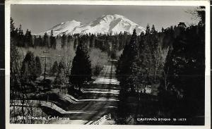 MOUNT SHASTA, CALIFORNIA, REAL PHOTO 1949